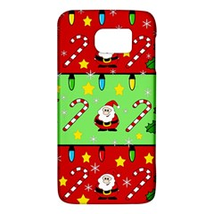 Christmas pattern - green and red Galaxy S6