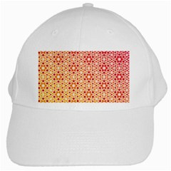 Orange Ombre Mosaic Pattern White Cap