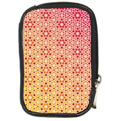 Orange Ombre Mosaic Pattern Compact Camera Cases