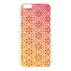 Orange Ombre Mosaic Pattern Apple Seamless iPhone 6 Plus/6S Plus Case (Transparent)