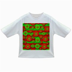 Snowflake red and green pattern Infant/Toddler T-Shirts