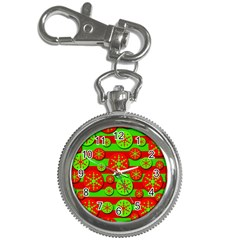 Snowflake red and green pattern Key Chain Watches