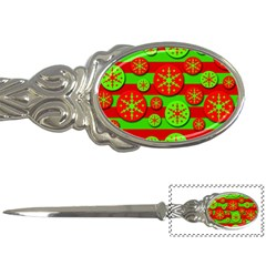 Snowflake red and green pattern Letter Openers
