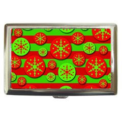 Snowflake red and green pattern Cigarette Money Cases