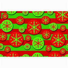 Snowflake red and green pattern Collage Prints
