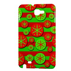Snowflake red and green pattern Samsung Galaxy Note 1 Hardshell Case