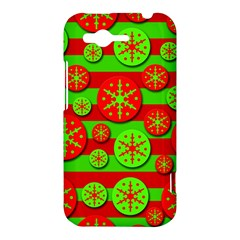 Snowflake red and green pattern HTC Rhyme