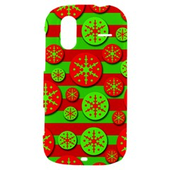 Snowflake red and green pattern HTC Amaze 4G Hardshell Case