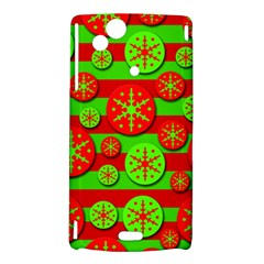 Snowflake red and green pattern Sony Xperia Arc