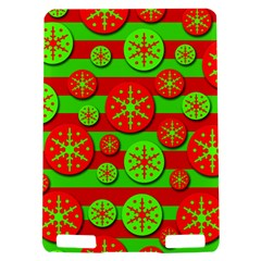 Snowflake red and green pattern Kindle Touch 3G
