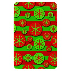 Snowflake red and green pattern Kindle Fire (1st Gen) Hardshell Case