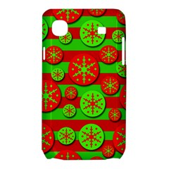 Snowflake red and green pattern Samsung Galaxy SL i9003 Hardshell Case