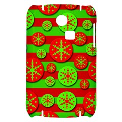 Snowflake red and green pattern Samsung S3350 Hardshell Case