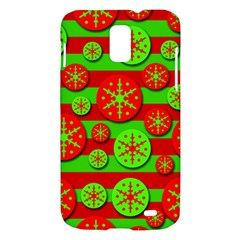 Snowflake red and green pattern Samsung Galaxy S II Skyrocket Hardshell Case