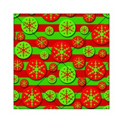 Snowflake red and green pattern Acrylic Tangram Puzzle (6  x 6 )
