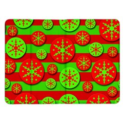 Snowflake red and green pattern Kindle Fire (1st Gen) Flip Case