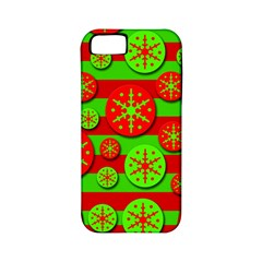 Snowflake red and green pattern Apple iPhone 5 Classic Hardshell Case (PC+Silicone)