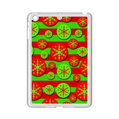 Snowflake red and green pattern iPad Mini 2 Enamel Coated Cases
