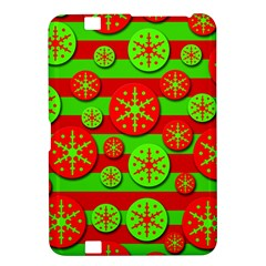 Snowflake red and green pattern Kindle Fire HD 8.9