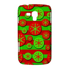Snowflake red and green pattern Samsung Galaxy Duos I8262 Hardshell Case