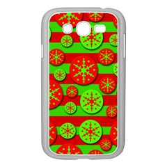 Snowflake red and green pattern Samsung Galaxy Grand DUOS I9082 Case (White)