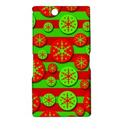 Snowflake red and green pattern Sony Xperia Z Ultra