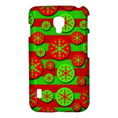 Snowflake red and green pattern LG Optimus L7 II