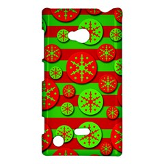 Snowflake red and green pattern Nokia Lumia 720