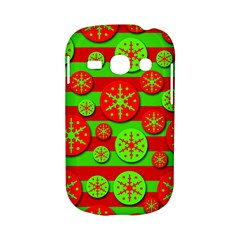 Snowflake red and green pattern Samsung Galaxy S6810 Hardshell Case