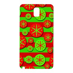 Snowflake red and green pattern Samsung Galaxy Note 3 N9005 Hardshell Back Case