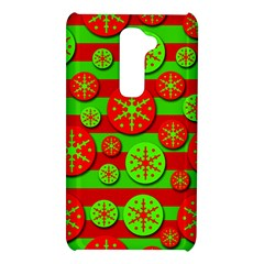 Snowflake red and green pattern LG G2