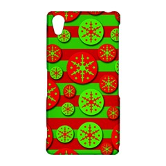 Snowflake red and green pattern Sony Xperia Z2