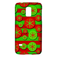 Snowflake red and green pattern Galaxy S5 Mini