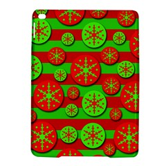 Snowflake red and green pattern iPad Air 2 Hardshell Cases