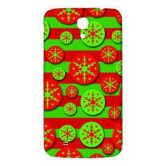 Snowflake red and green pattern Samsung Galaxy Mega I9200 Hardshell Back Case