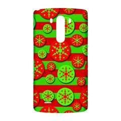 Snowflake red and green pattern LG G3 Back Case