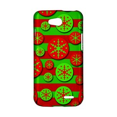 Snowflake red and green pattern LG L90 D410