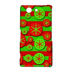 Snowflake red and green pattern Sony Xperia Z3 Compact