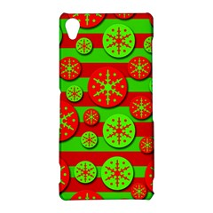 Snowflake red and green pattern Sony Xperia Z3