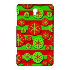 Snowflake red and green pattern Samsung Galaxy Tab S (8.4 ) Hardshell Case