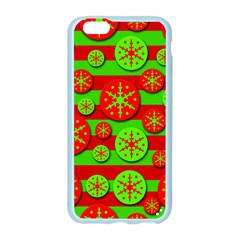 Snowflake red and green pattern Apple Seamless iPhone 6/6S Case (Color)