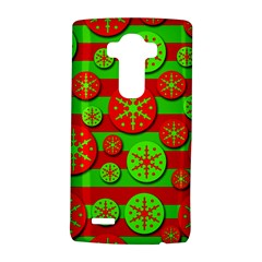Snowflake red and green pattern LG G4 Hardshell Case