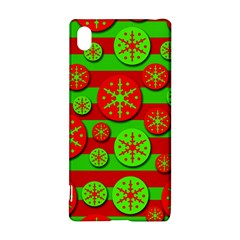 Snowflake red and green pattern Sony Xperia Z3+