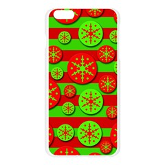 Snowflake red and green pattern Apple Seamless iPhone 6 Plus/6S Plus Case (Transparent)