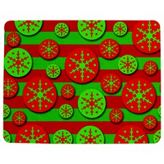 Snowflake red and green pattern Jigsaw Puzzle Photo Stand (Rectangular)