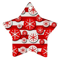 Snowflake red and white pattern Ornament (Star)