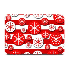 Snowflake red and white pattern Plate Mats