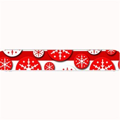 Snowflake red and white pattern Small Bar Mats