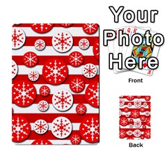 Snowflake red and white pattern Multi-purpose Cards (Rectangle)