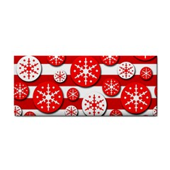 Snowflake Red And White Pattern Hand Towel